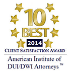 "American Institute of DUI/DWI Attorneys ""10 Best""  Attorneys for the State of Texas"